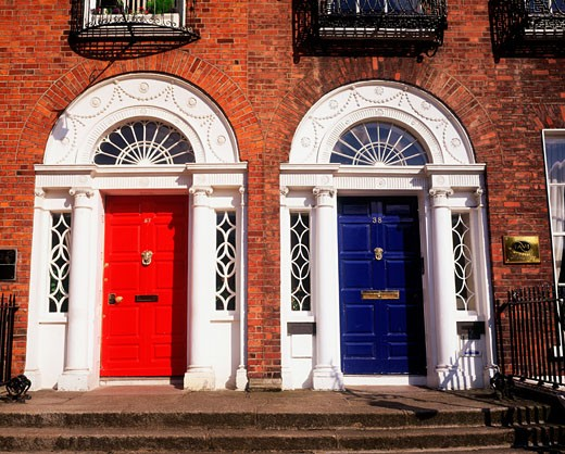 Stock Photo: 1812-1685 Georgian doors, Dublin, Co Dublin, Ireland