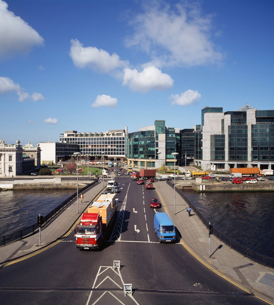 Dublin, Co Dublin, Ireland, The Matt Talbot Bridge : Stock Photo