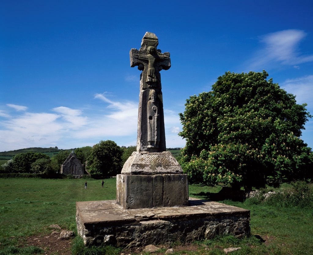 High Cross At Dysert O'dea, County Clare, Ireland : Stock Photo