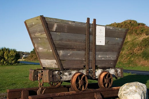 Stock Photo: 1812-1741 Copper Mine Buggy, Bunmahon, Co Waterford, Ireland