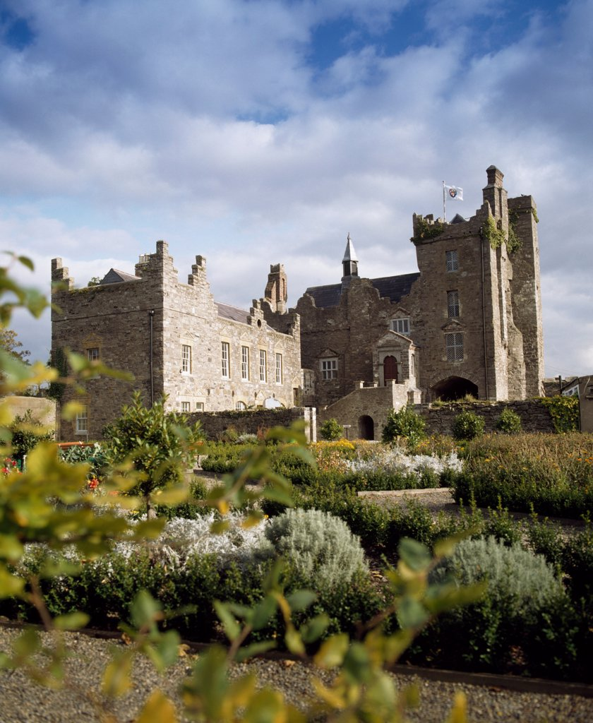 Dublin Historic Buildings, Drimnagh Castle, Dublin, Ireland : Stock Photo