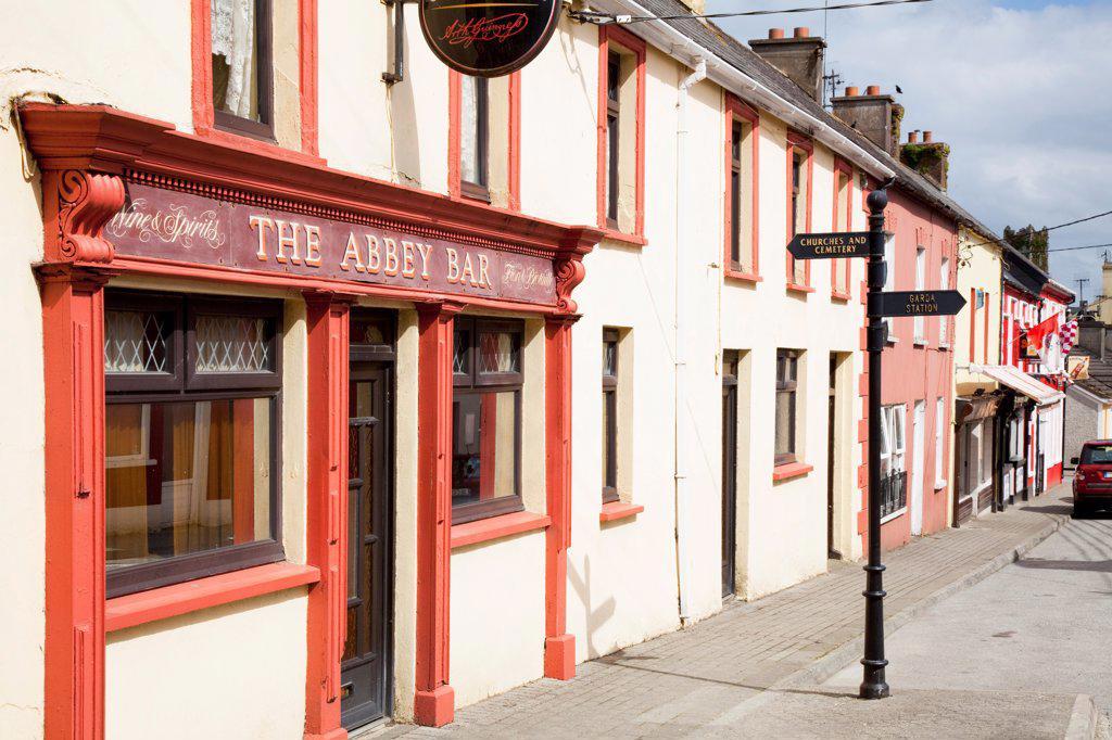 Stock Photo: 1812-19200 Exterior Of Traditional Irish Pub; Timoleague, County Cork, Ireland
