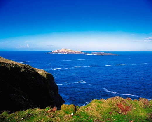 Stock Photo: 1812-2027 Eagle Island, Erris Head, Co Mayo, Ireland, lighthouse in the distance