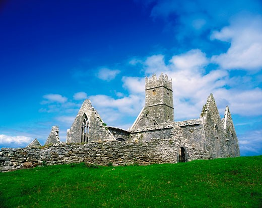 Stock Photo: 1812-2049 Ross Errilly Friary, Co Galway, Ireland, Franciscan Friary established in 1351