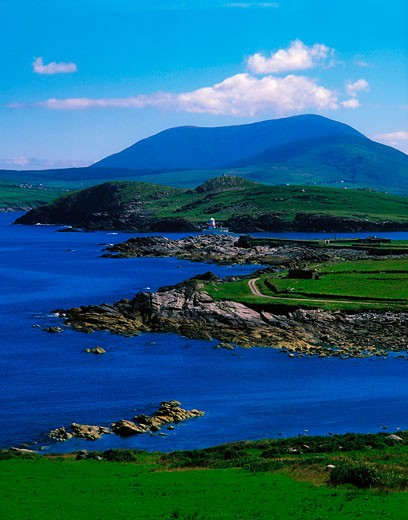 Valentia Lighthouse, Valentia Island, Co Kerry, Ireland : Stock Photo