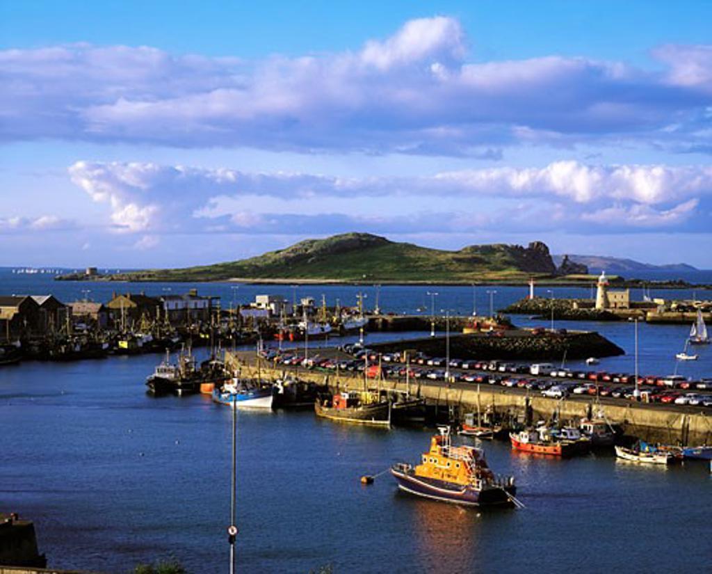 Stock Photo: 1812-2070 Ireland's Eye, from Howth Harbour, Co Dublin, Ireland