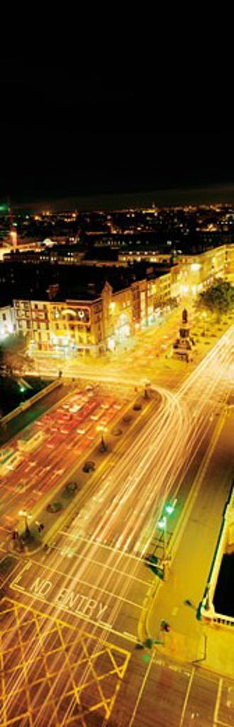 O'Connell Street, Dublin City, Dublin, Ireland : Stock Photo