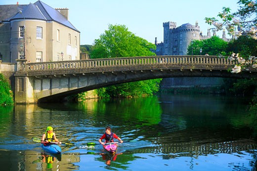 Stock Photo: 1812-2628 Dunmore East, Co Waterford, Ireland, People kayaking