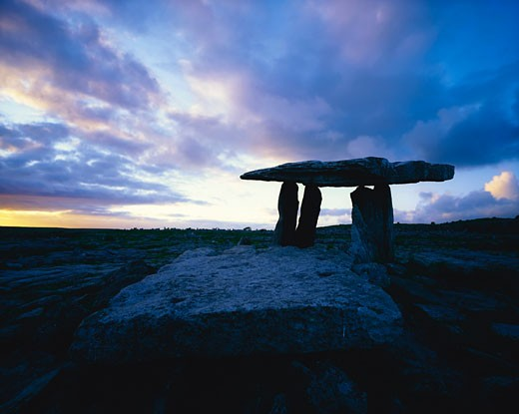Stock Photo: 1812-2683 Poulnabrone Dolmen, The Burren, Co Clare, Ireland