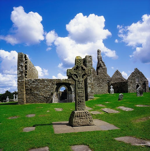 Co Offaly, Clonmacnoise : Stock Photo