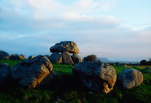 Stock Photo: 1812-3741 Dolmen Carronmore Co Sligo Dolmen Within Circle