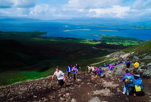 Co Mayo, Croagh Patrick Pilgrimage : Stock Photo