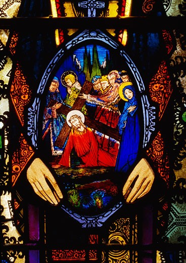 Stock Photo: 1812-3809 Religion, Stained Glass Harry Clarke, Lough Derg