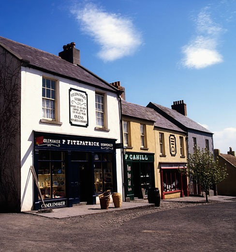 Stock Photo: 1812-3853 Co Clare, Bunratty Folk Park, Traditional Street