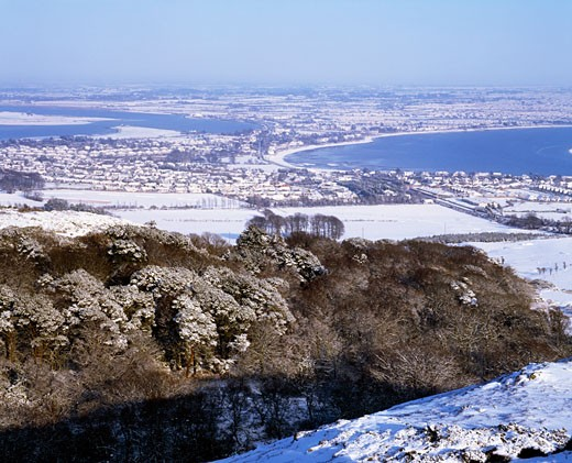 Irish Snow Scenes, CO Dublin, Sutton and Baldoyle : Stock Photo