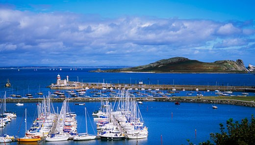 Stock Photo: 1812-3868 Howth Harbour and Ireland's eye (Island), Co Dublin, Ireland.