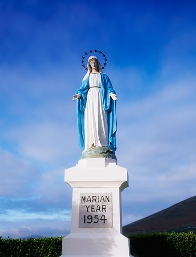 Stock Photo: 1812-3891 Religion, Marian Year Statue, Co Wicklow