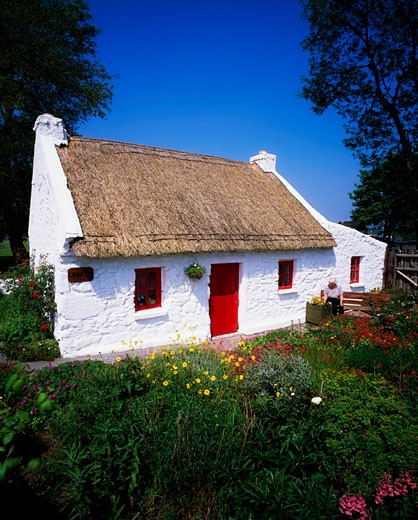 Traditional Cottage, Drumineer, Co Tipperary, Ireland : Stock Photo
