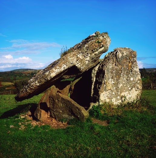 Stock Photo: 1812-4615 Dolmens, Drumanone Dolmen, Boyle Co Roscommon