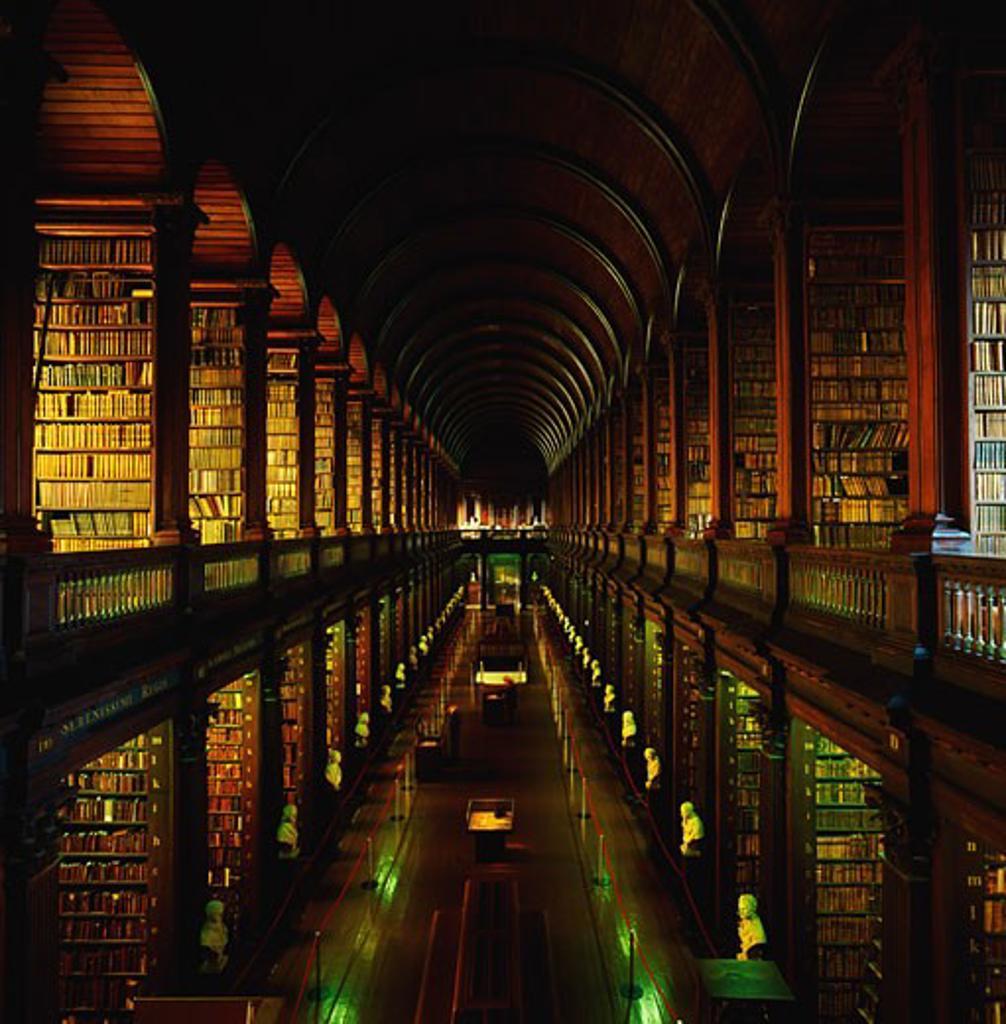 Stock Photo: 1812-4708 Thomas Burgh Library, Trinity College, Dublin, Ireland