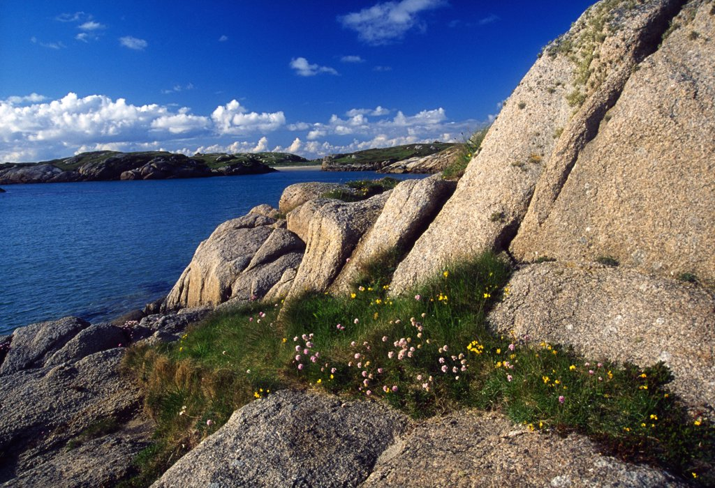 Stock Photo: 1812-5559 The Rosses, County Donegal, Ireland; Rocky riverbank