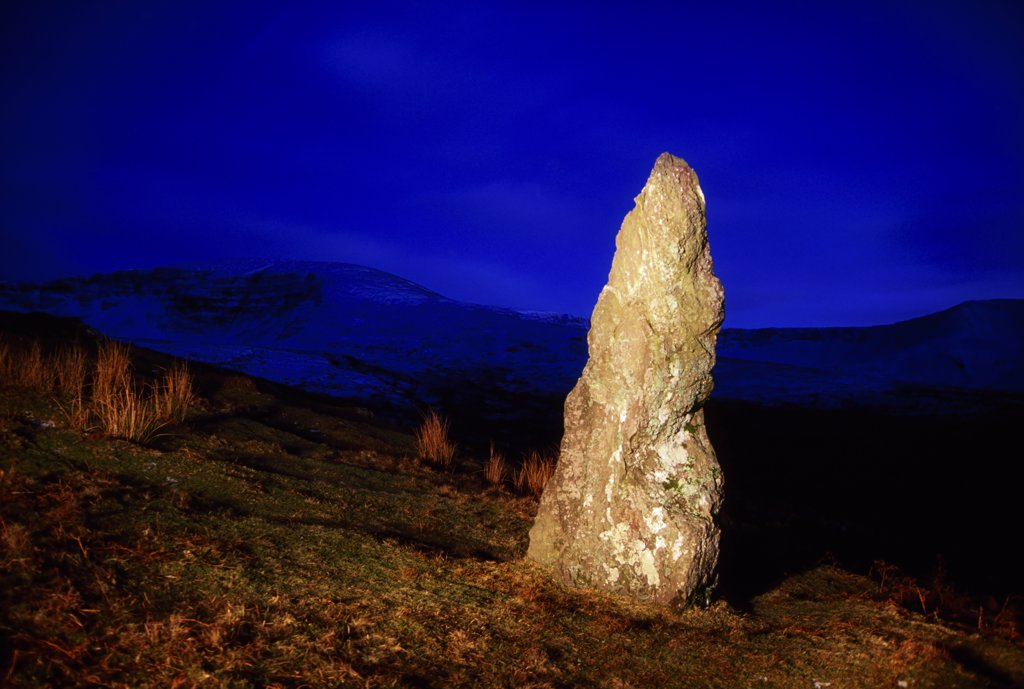 Stock Photo: 1812-5639 Nire Valley, County Waterford, Ireland; Standing stone