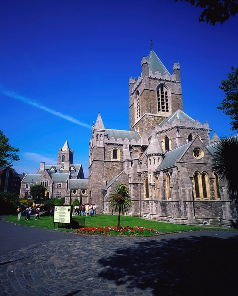Christ Church Cathedral, Dublin, Co Dublin, Ireland, Medieval cathedral : Stock Photo