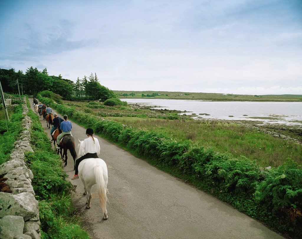 Stock Photo: 1812-6935 Pony Trekking, Connemara, Ireland