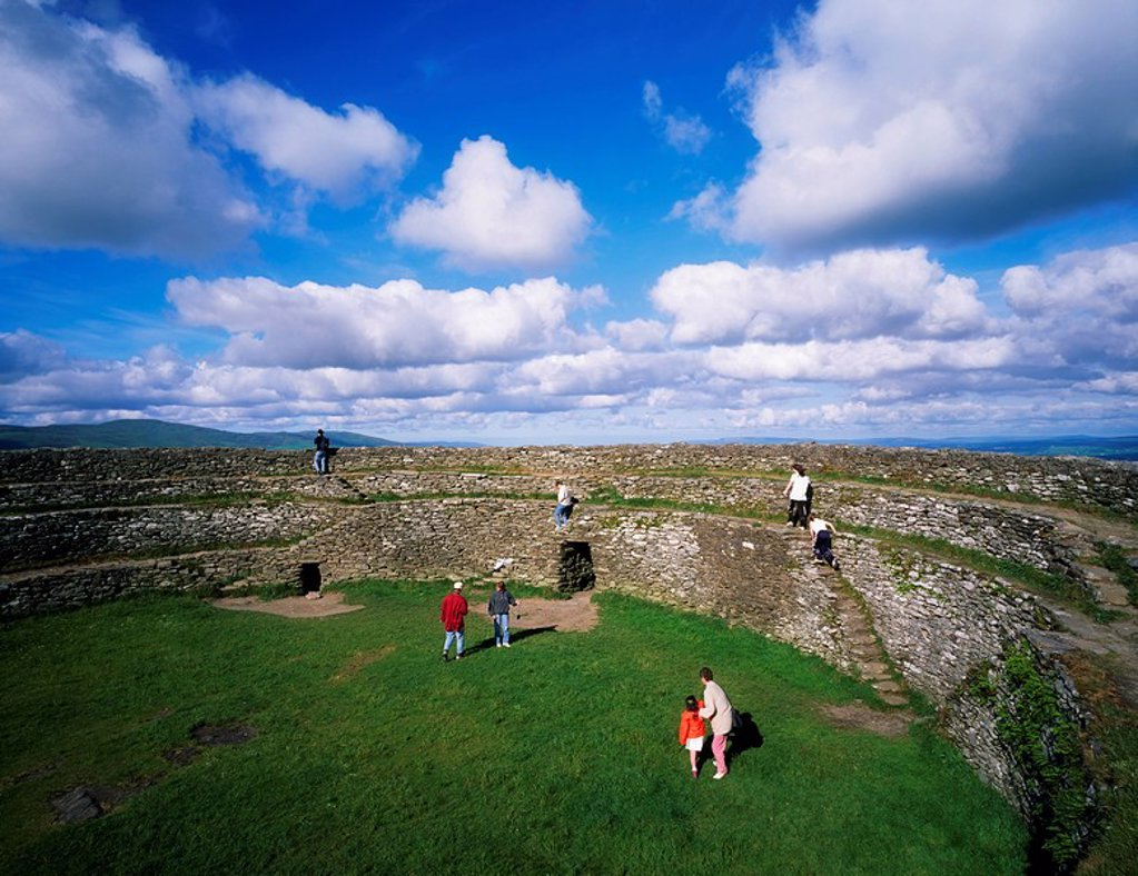 Stock Photo: 1812-6948 Grianan of Aileach, Inishowen, Co Donegal, Ireland, Iron Age stone enclosure