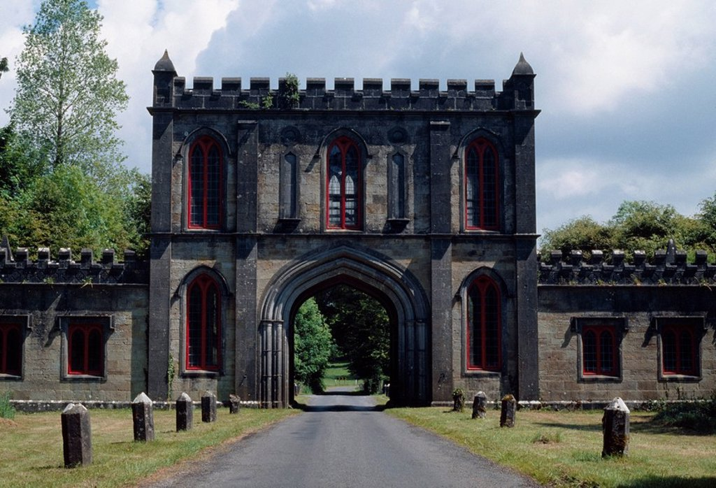 Stock Photo: 1812-7395 Lough Key Forest and Activity Park, Boyle, Co Roscommon, Ireland, Building on an estate and now public park
