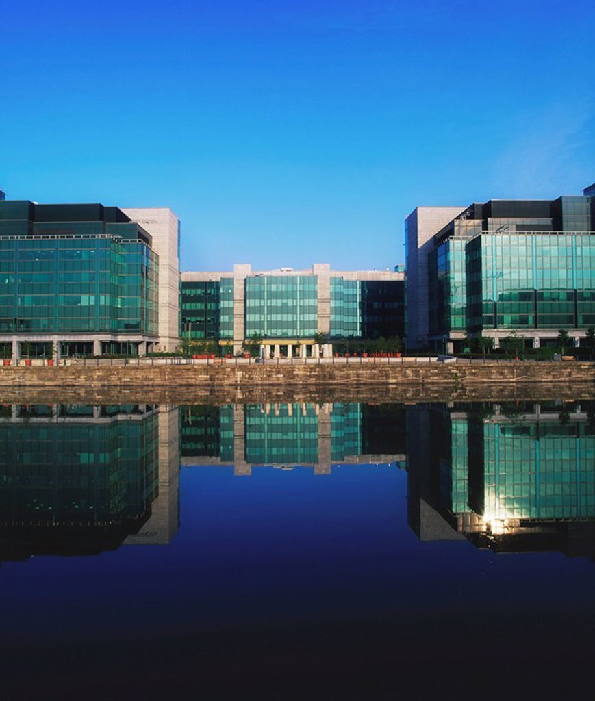 Dublin, Co Dublin, Ireland, Exterior view of the International Financial Services Centre : Stock Photo