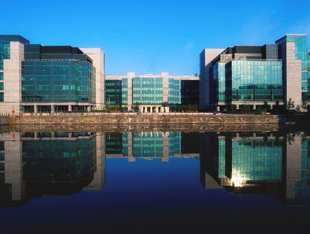 Stock Photo: 1812-7719 Dublin. Co Dublin, Ireland, Exterior view of the International Financial Services Centre