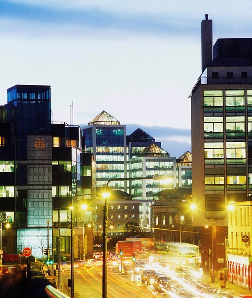 Dublin, Co Dublin, Ireland, Modern Offices & IFSC, George´s Quay : Stock Photo
