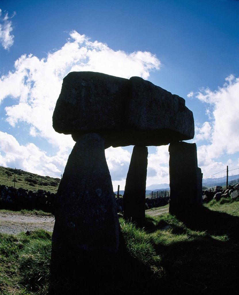 Stock Photo: 1812-7829 Legananny Dolmen, Co Down, Ireland, Neolithic portal tomb