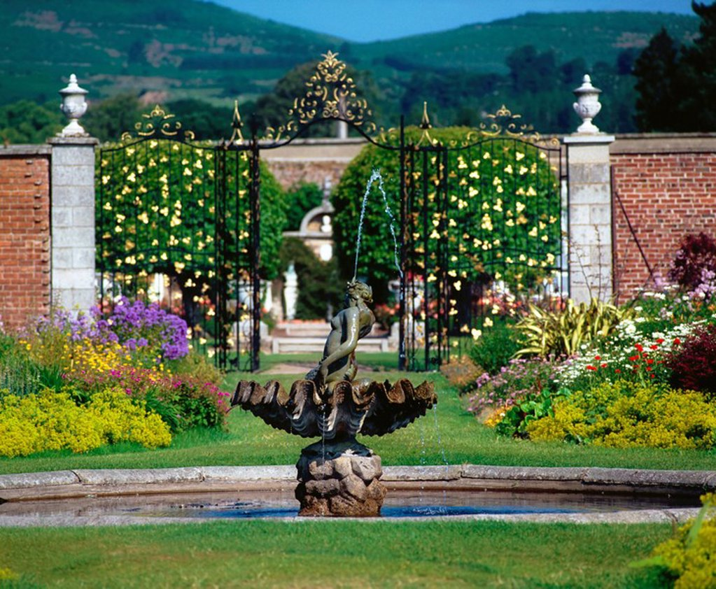 Stock Photo: 1812-8286 Powerscourt Estate, Co Wicklow, Ireland, 18th Century estate