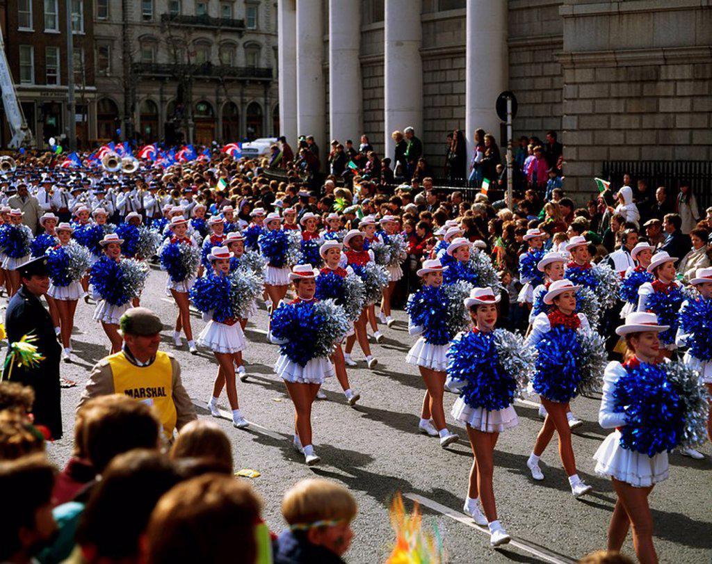 Dublin, Co Dublin, Ireland, St Patrick´s Day Parade : Stock Photo