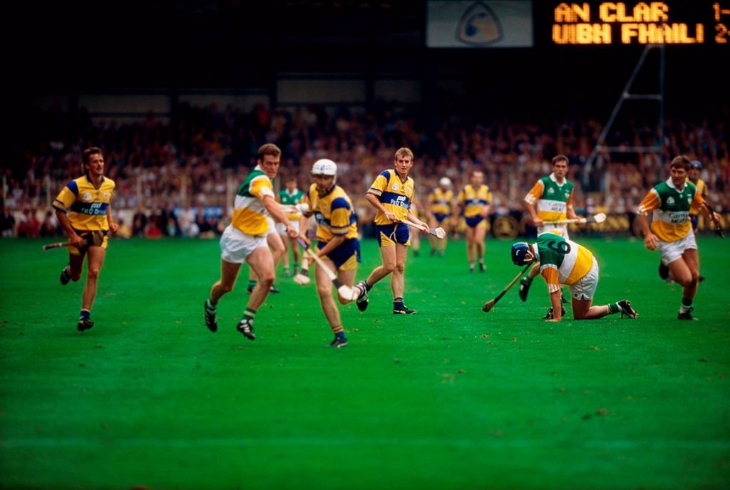 Stock Photo: 1812-9306 All Ireland Hurling Final in 1995, Ireland, Hurling players
