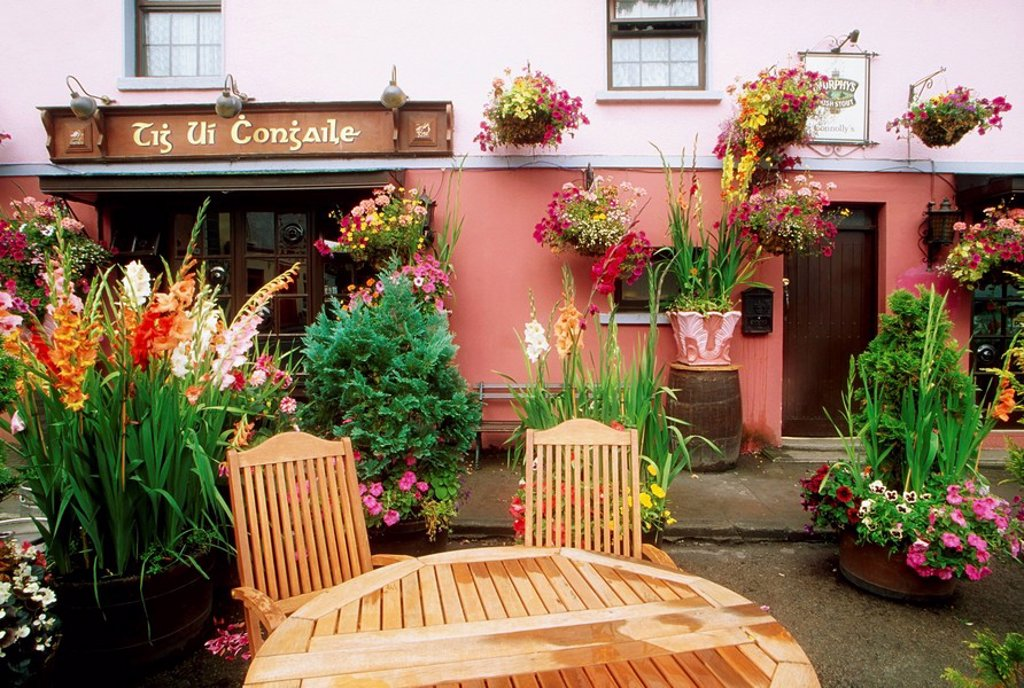 Stock Photo: 1812-9486 Flowery Pub, Kinvara, Galway