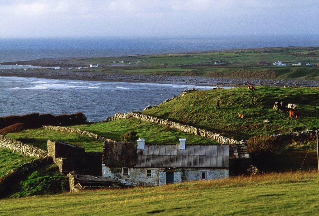 Stock Photo: 1812-9580 Doolin Village, Co Clare, Ireland, Coastal village on the Atlantic coast