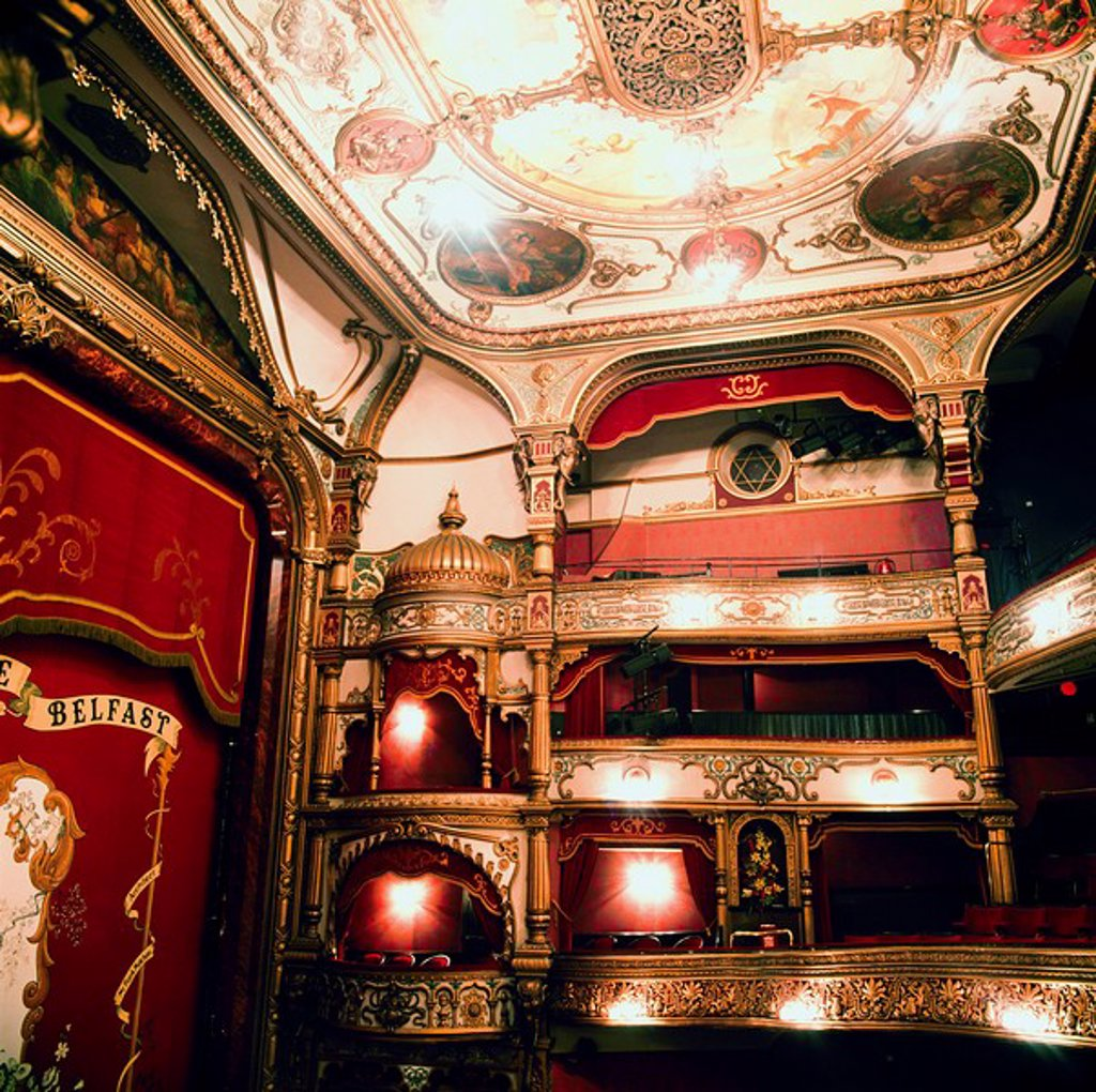 Stock Photo: 1812-9626 Grand Opera House, Belfast, Ireland, Opera house designed by Frank Matcham and opened in 1895