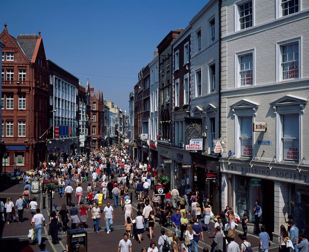 Grafton Street, Dublin City, County Dublin, Ireland : Stock Photo