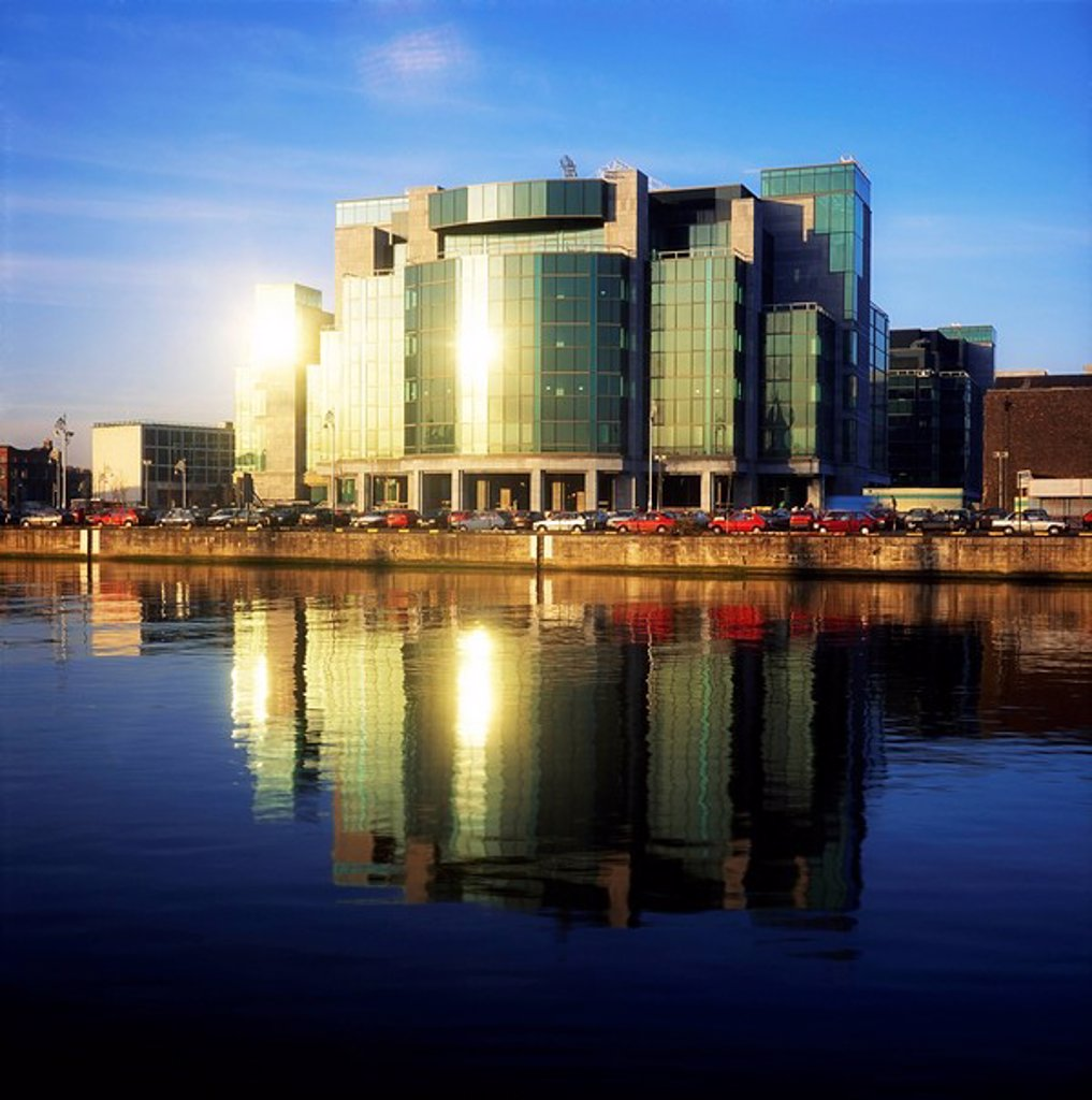 Stock Photo: 1812-9991 Dublin, Co Dublin, Ireland, Exterior view of the International Financial Services Centre