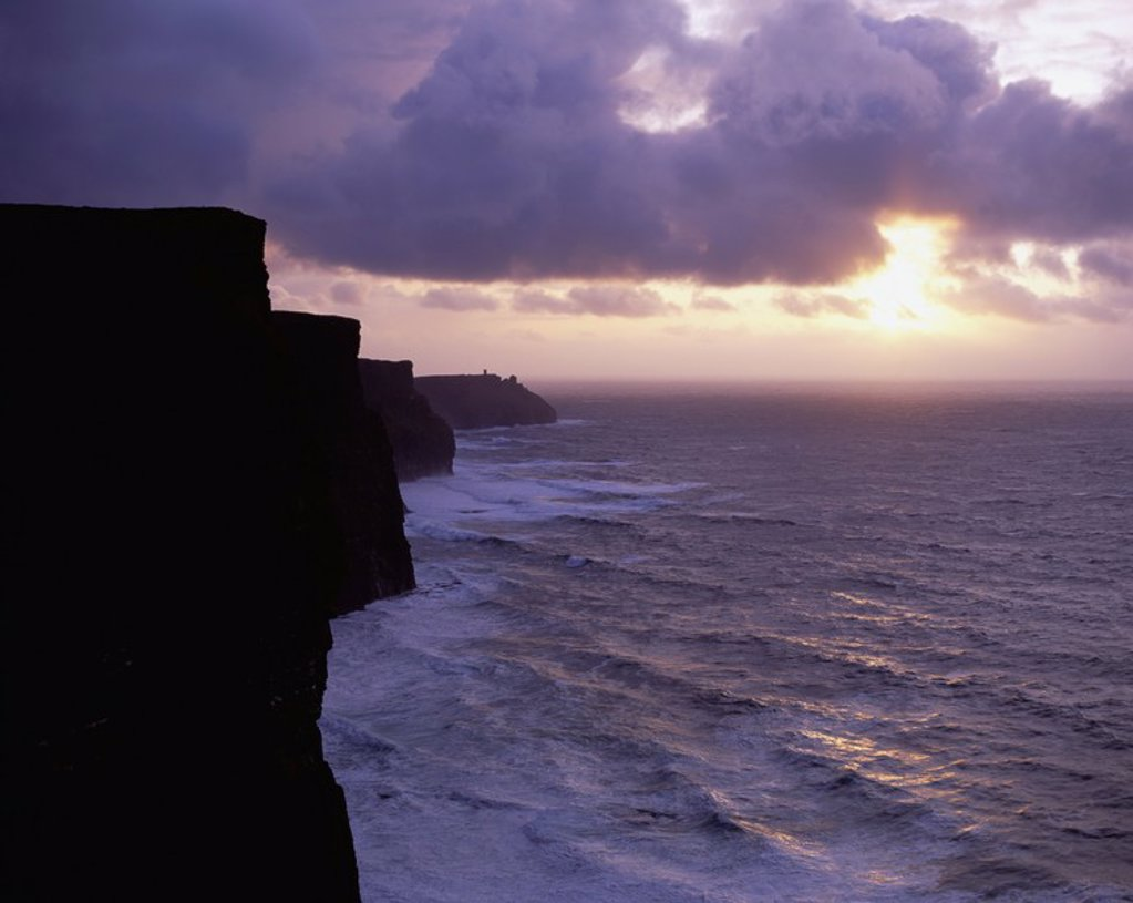 Stock Photo: 1812R-12910 Cliffs of Moher, Co  Clare, Ireland