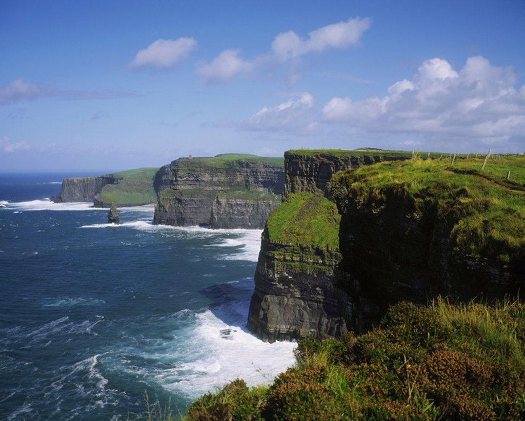 Stock Photo: 1812R-12956 Cliffs of Moher, Co Clare, Ireland