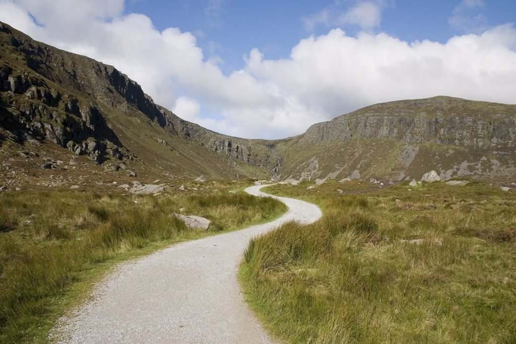 Stock Photo: 1812R-13008 Track to Mahon Falls, Comeragh Mountains, Co Waterford, Ireland