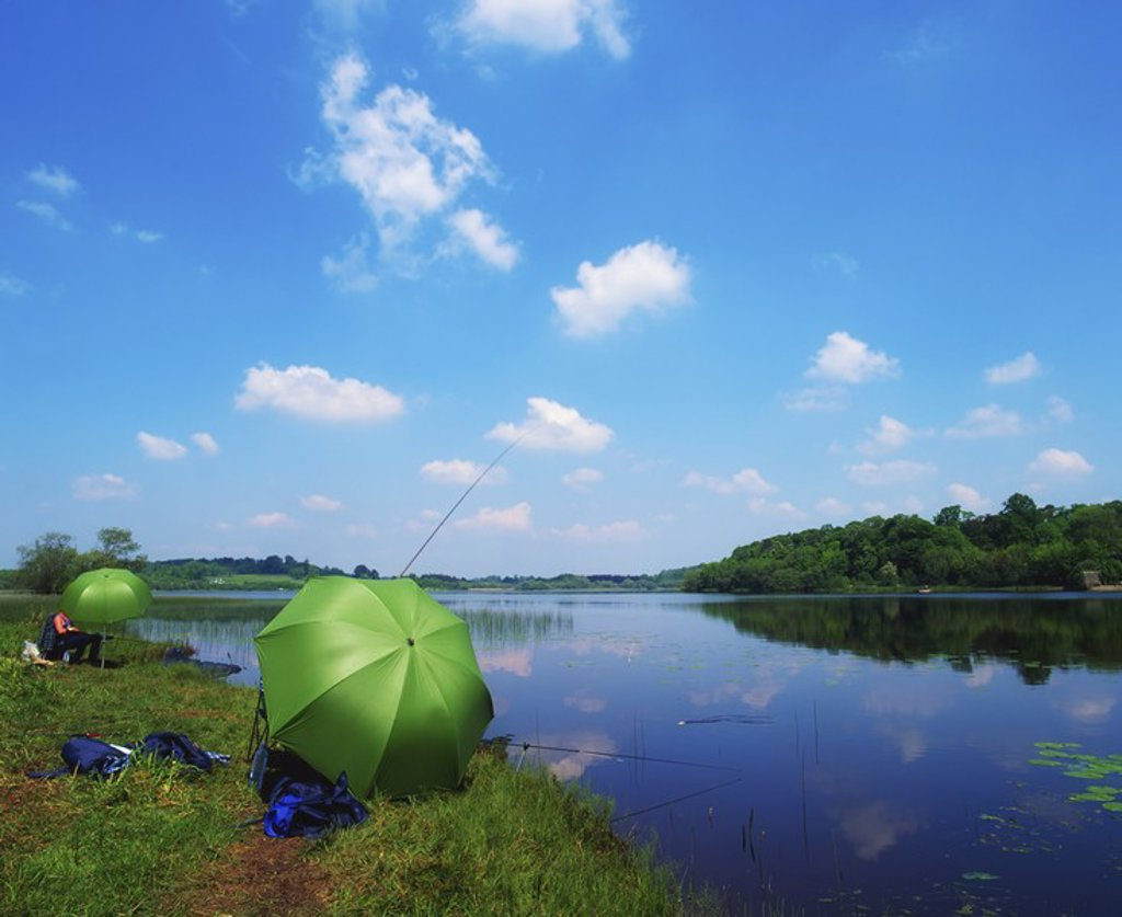 Stock Photo: 1812R-13081 Co Leitrim, Lough Rynn, Angling, Ireland