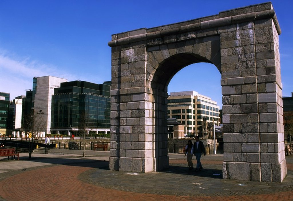 Stock Photo: 1812R-13271 IFSC, North Wall Quay, Dublin, Ireland
