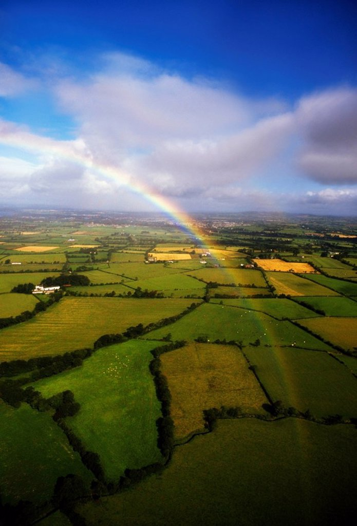 Aerial view of County Antrim, Northern Ireland : Stock Photo