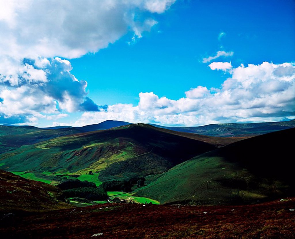 Stock Photo: 1812R-14161 near Luggala Mountain, Co Wicklow, Ireland