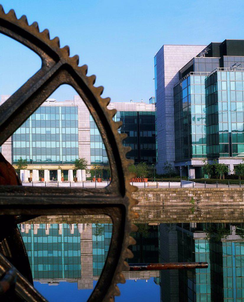 Dublin City, Co Dublin, Ireland, International Financial Services Centre IFSC : Stock Photo